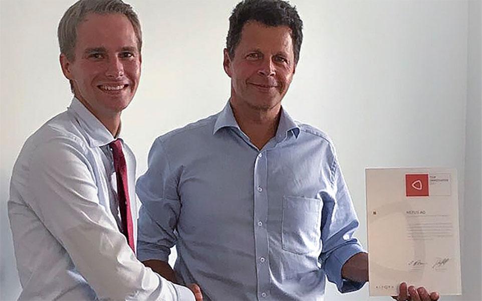 TOP Innovator Award an Nexus AG übergeben
