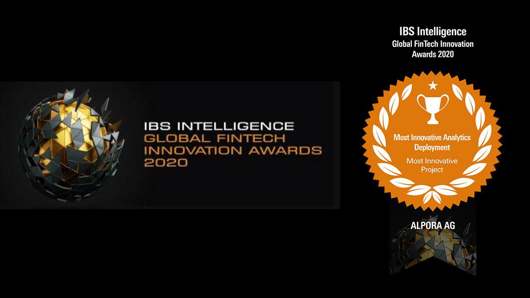 ALPORA wurde mit dem IBS Intelligence Award für das innovativste Innovation Deployment Projekt für das Jahr 2020 ausgezeichnet.