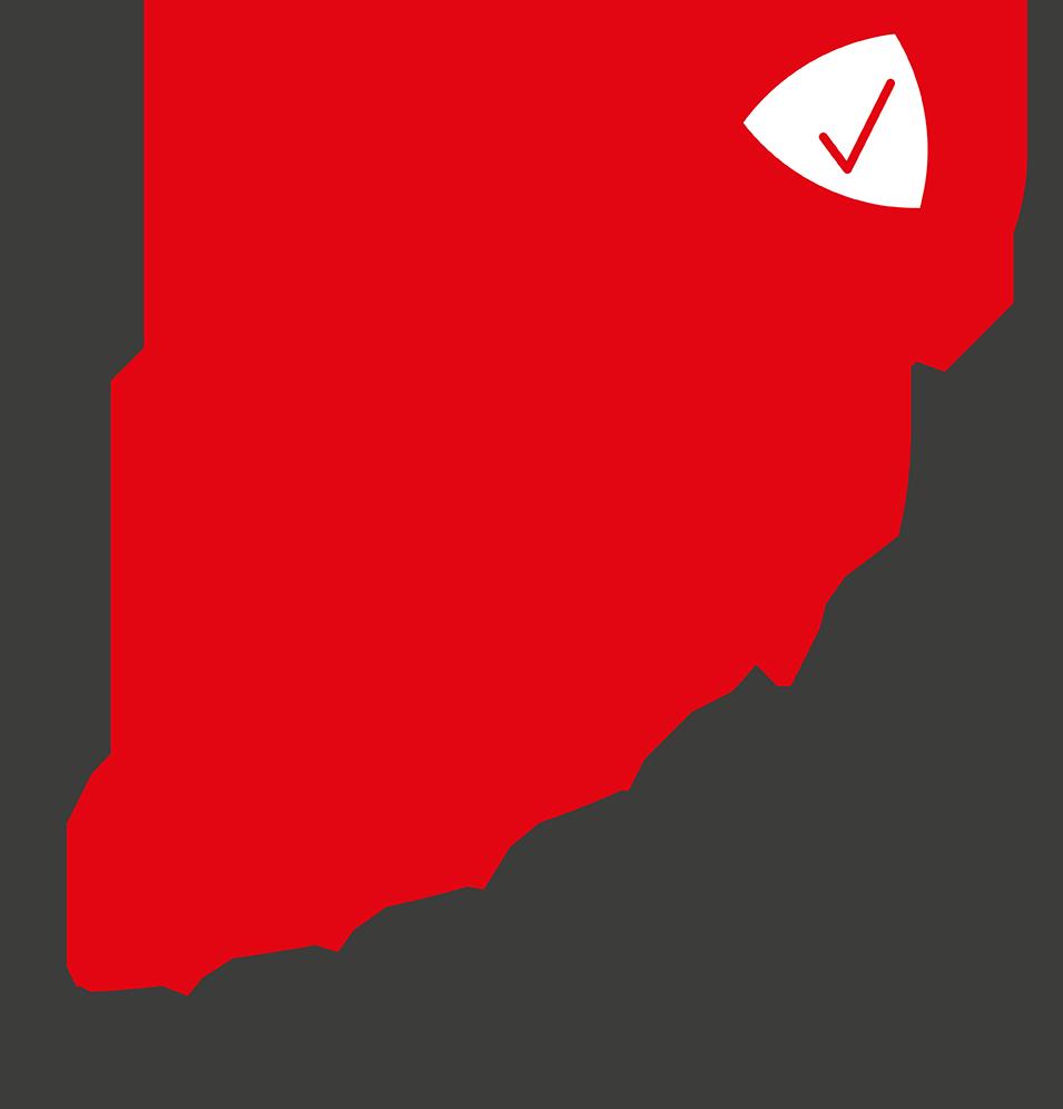 Vereinfachte Grafik mit steigendem Pfeil, der nach oben in die rechte Ecke zeigt. Oben rechts ist das Logo der Top Innovative Companies. Der steigende Pfeil symbolisiert, dass sich Investments in Innovationen lohnen.